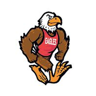 Eagle Mascot Temporary Tattoo