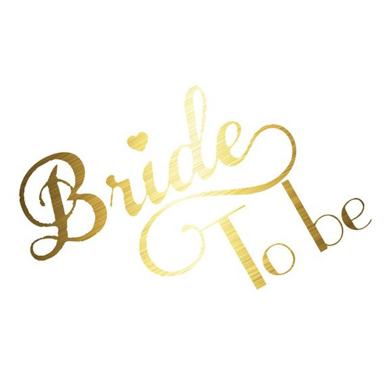 Metallic Bride To Be Temporary Tattoo image number null