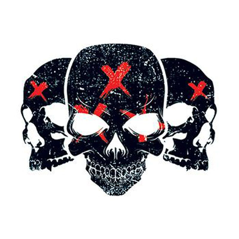 Three Skulls Temporary Tattoo image number null