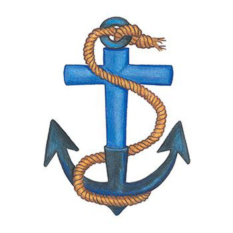Traditional Anchor with Rope Temporary Tattoo image number null