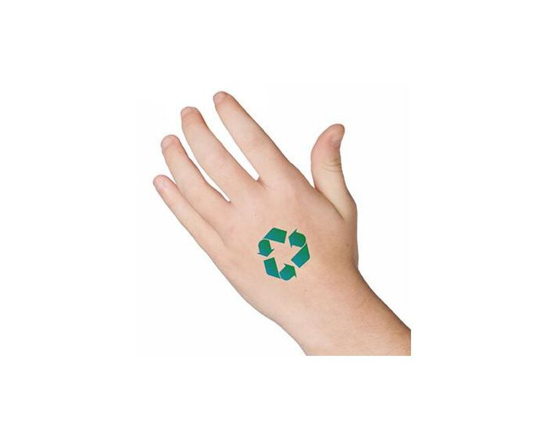 Recycle Arrows Temporary Tattoo image number null