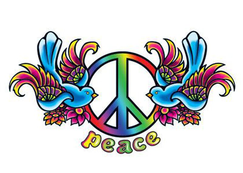 Peace Birds Temporary Tattoo image number null