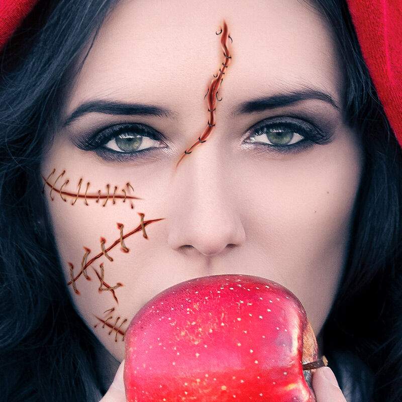 Sutured Cuts & Wounds Costume Tattoo image number null
