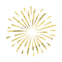 Gold Metallic Firework Burst Temporary Tattoo