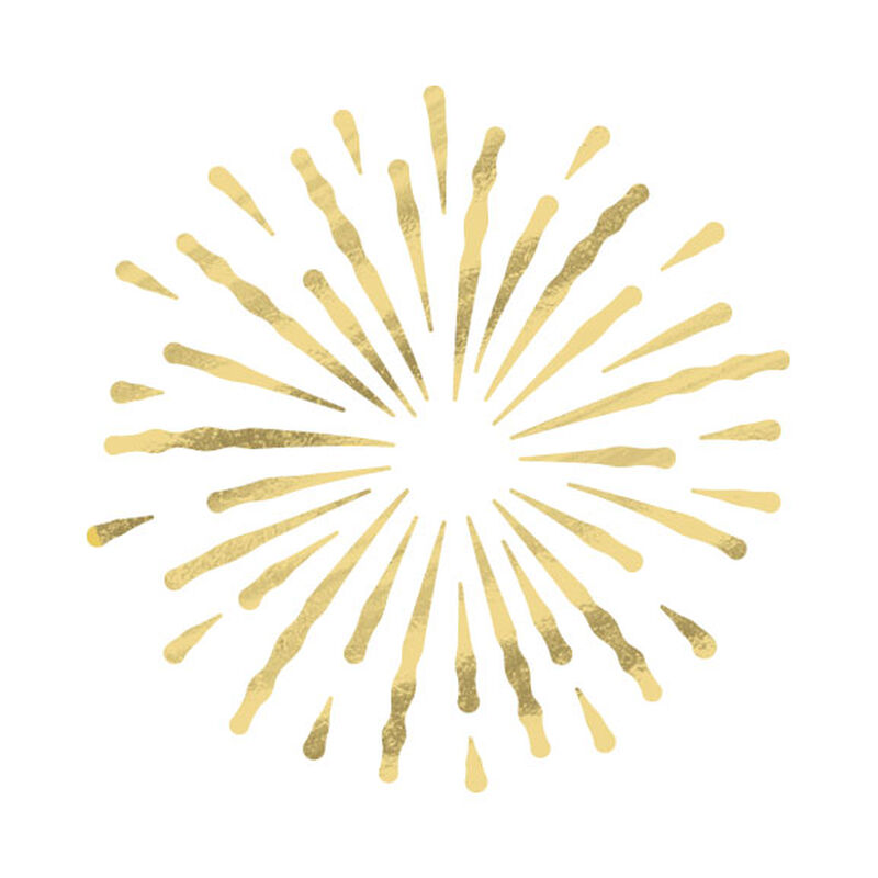 Gold Metallic Firework Burst Temporary Tattoo image number null