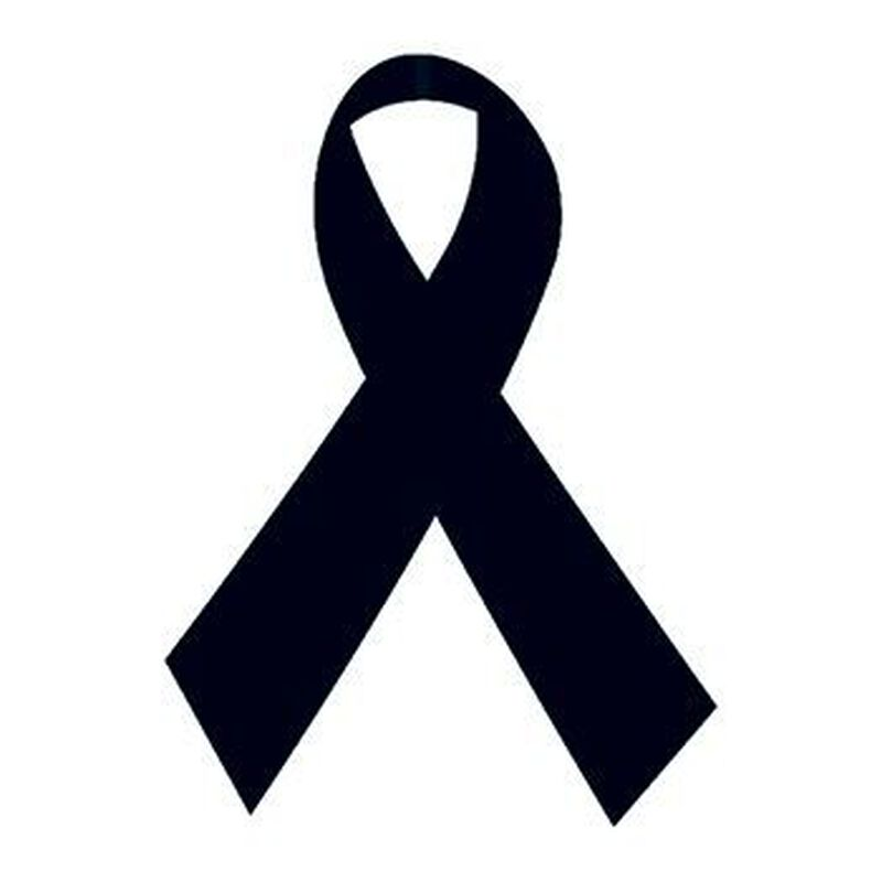 Black Awareness Ribbons Temporary Tattoo image number null