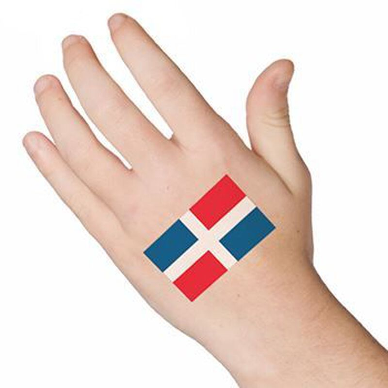 Dominican Republic Flag Temporary Tattoo image number null
