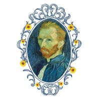 Self Portrait of Vincent van Gogh Temporary Tattoo