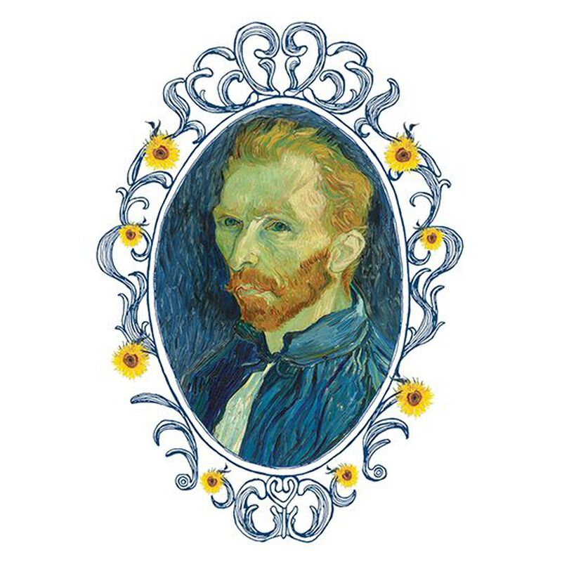 Self Portrait of Vincent van Gogh Temporary Tattoo image number null
