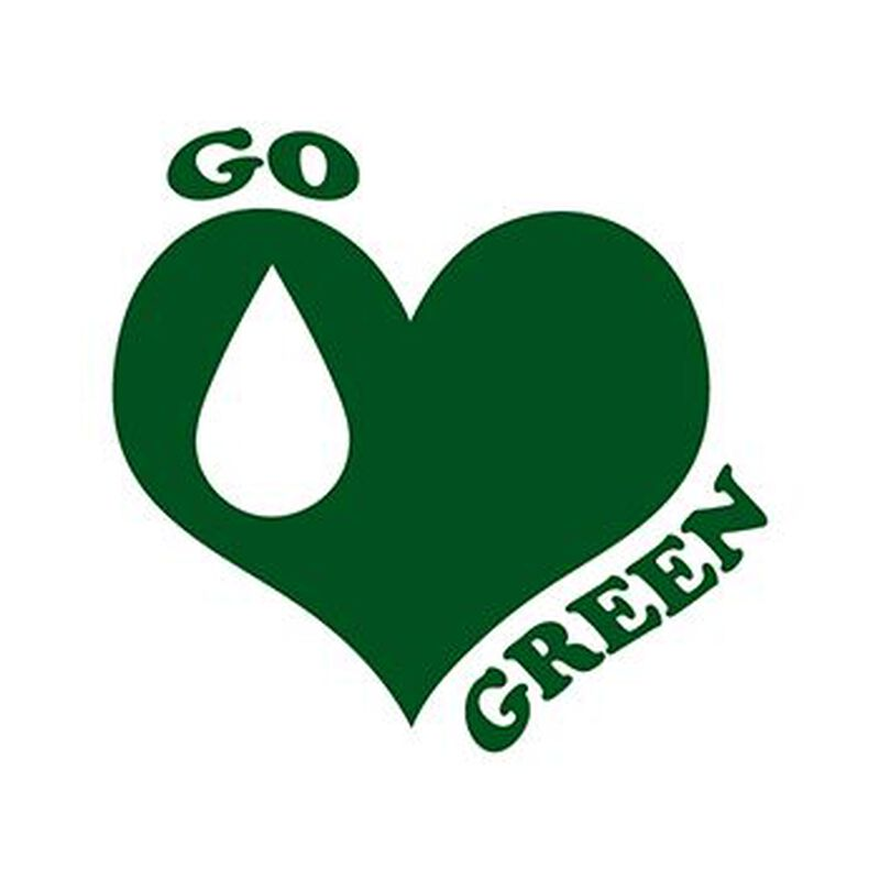 Go Green Heart Temporary Tattoo image number null