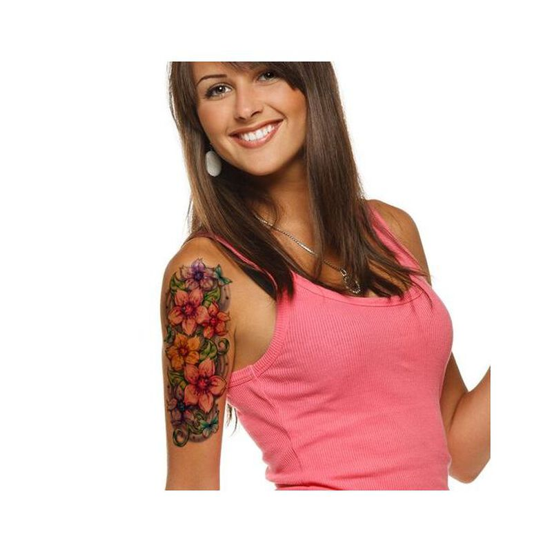 Cherry Blossom Sleeve Temporary Tattoo image number null