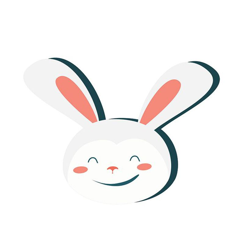Smiling Bunny Temporary Tattoo image number null