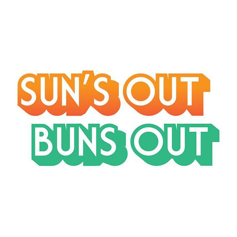 Suns Out Buns Out Temporary Tattoo image number null