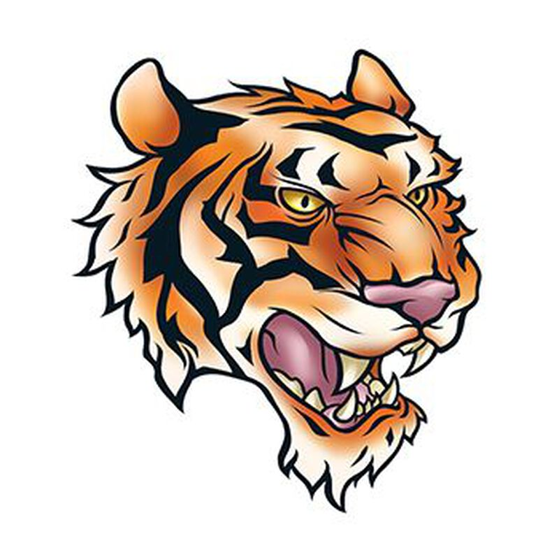 Tiger Head Temporary Tattoo image number null