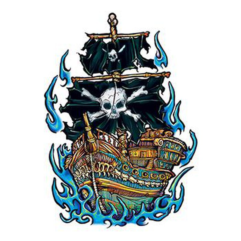 Pirate Ship Temporary Tattoo image number null