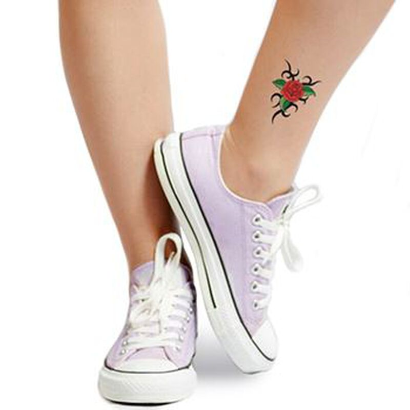 Tribal Rose Design Temporary Tattoo image number null