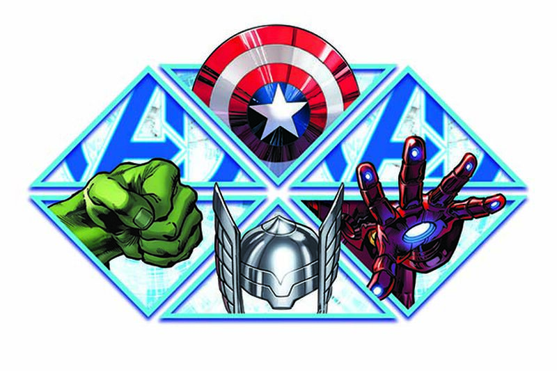 Avengers Super Heroes Temporary Tattoo image number null
