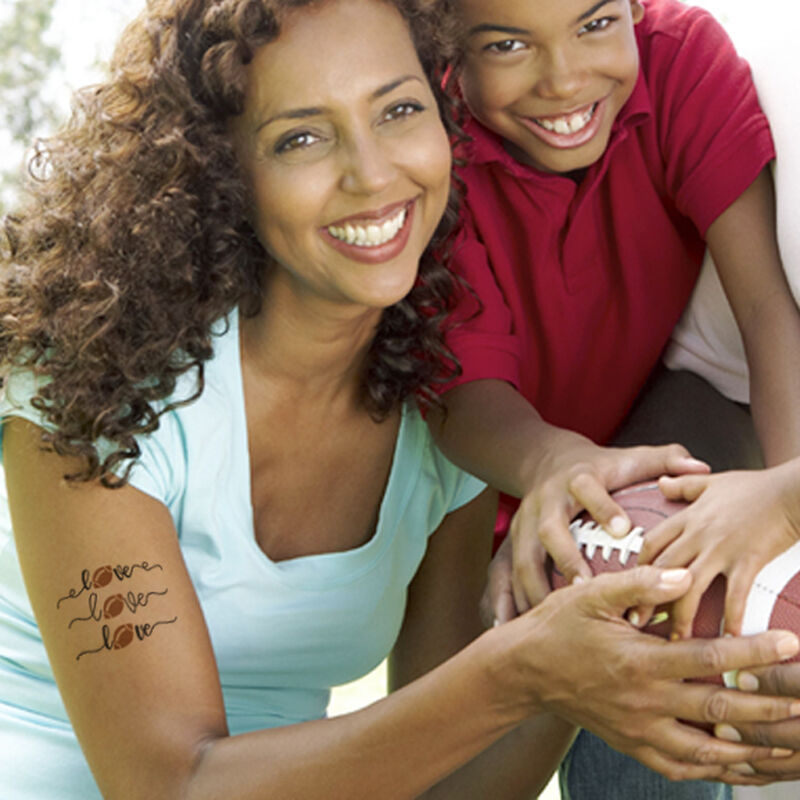 Love Football Temporary Tattoo image number null