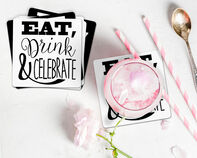 Eat, Drink, Celebrate Coaster Gift Box