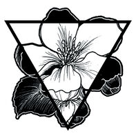 Inverse Flower Triangle Temporary Tattoo