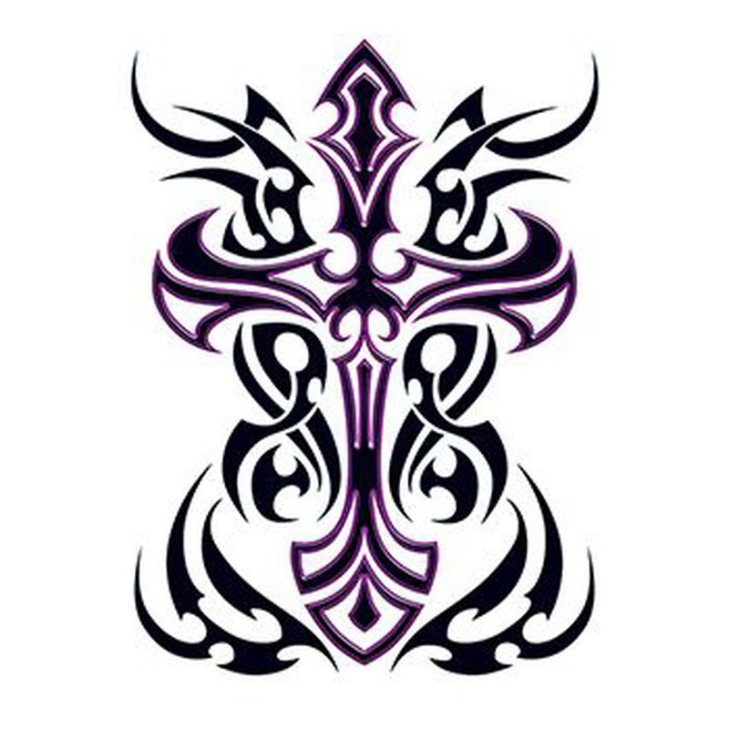 Tribal Cross Temporary Tattoo image number null