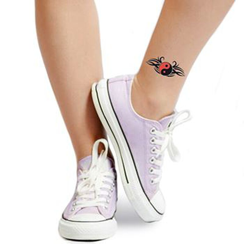 Yin Yang Symbol Temporary Tattoo image number null