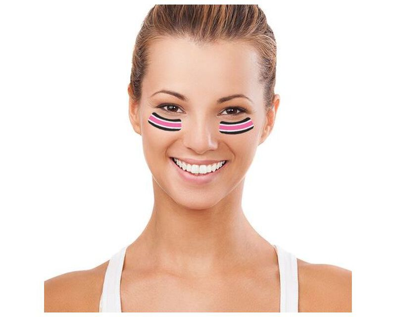Breast Cancer Awareness Eye Black Temporary Tattoos image number null