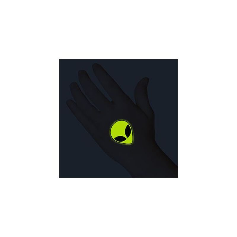 Glow in the Dark Alien Temporary Tattoo image number null