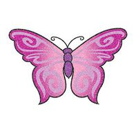 Glitter Purple Butterfly Temporary Tattoo