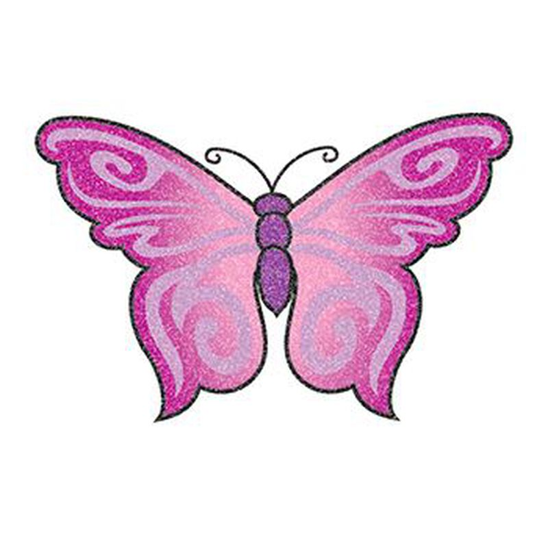 Glitter Purple Butterfly Temporary Tattoo image number null