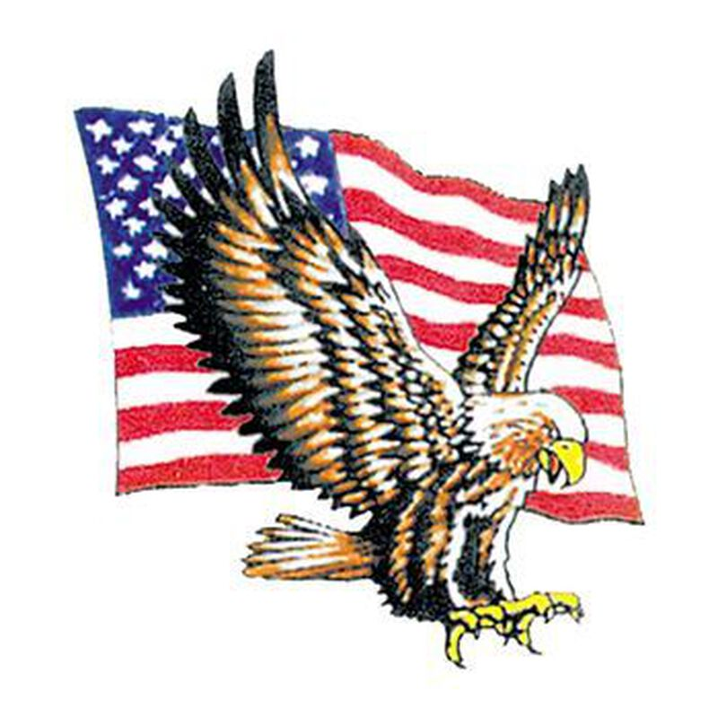 Bald Eagle with Flag Temporary Tattoo image number null