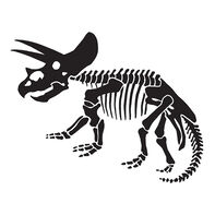 Triceratops Temporary Tattoo