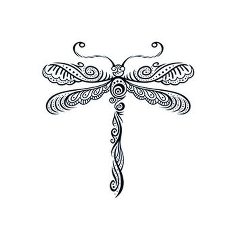 Henna: Dragonfly Temporary Tattoo image number null