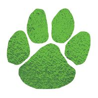 Metallic Green Paw Temporary Tattoo