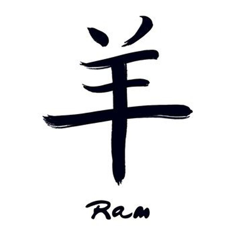 Chinese Zodiac: Ram Temporary Tattoo image number null