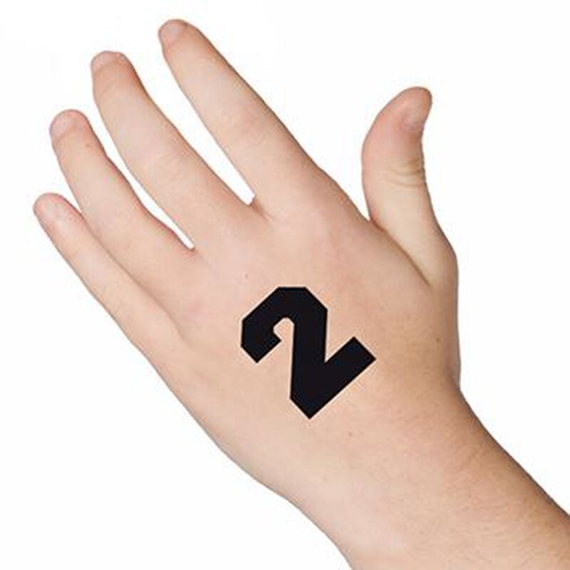 Number 2 Temporary Tattoo image number null