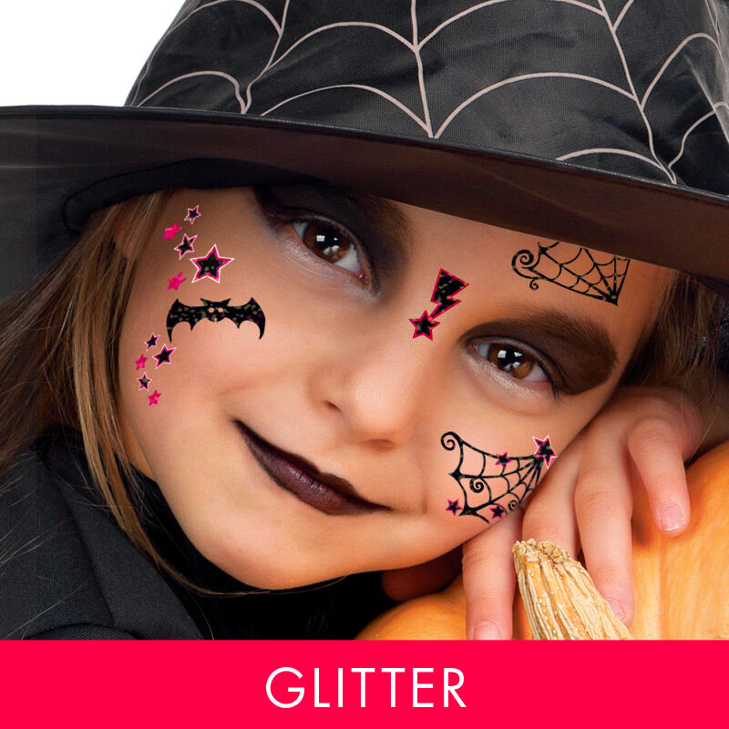 Cute Witch Kids Costume Tattoo image number null