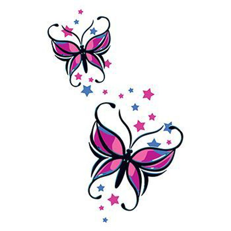 Butterflies and Stars Temporary Tattoo image number null