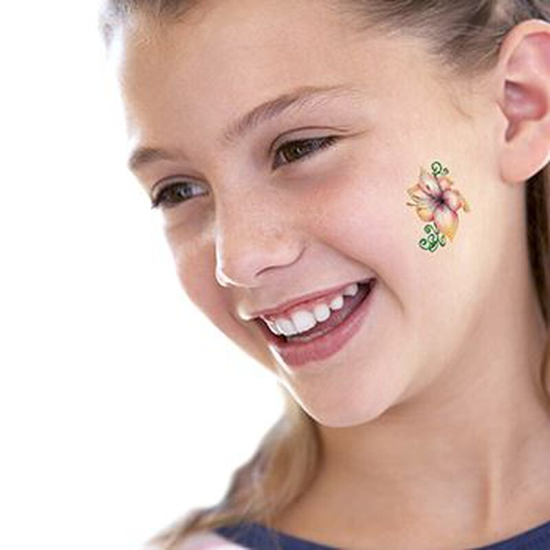 Lily Flower and Vine Temporary Tattoo image number null