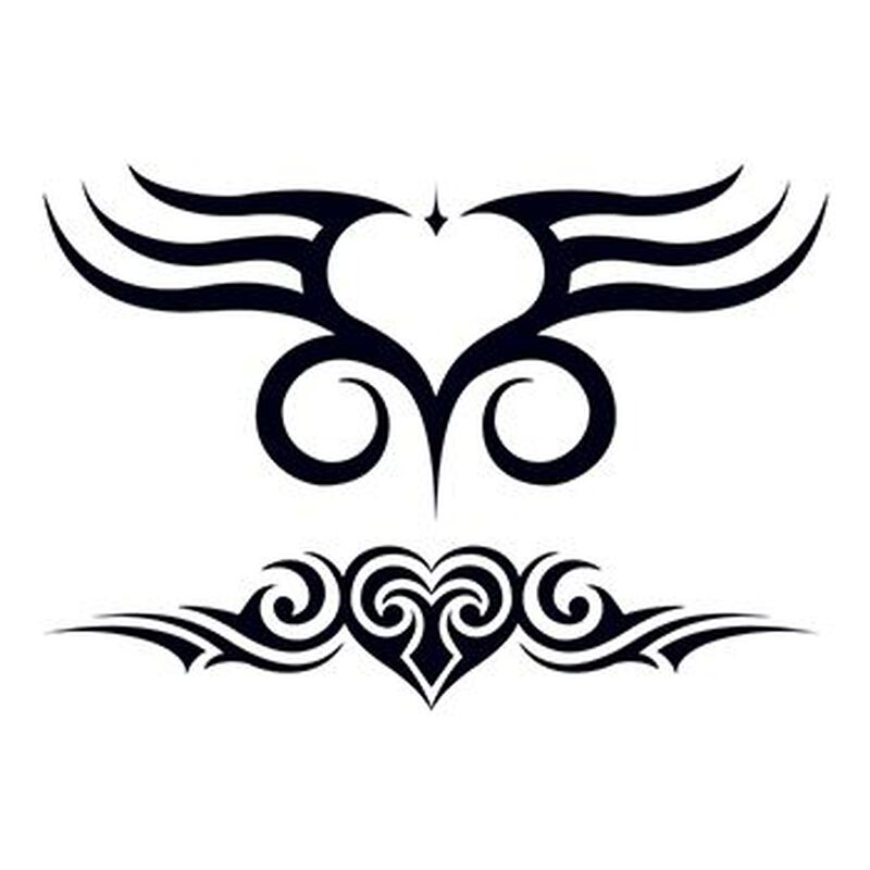 Tribal Hearts Temporary Tattoo image number null