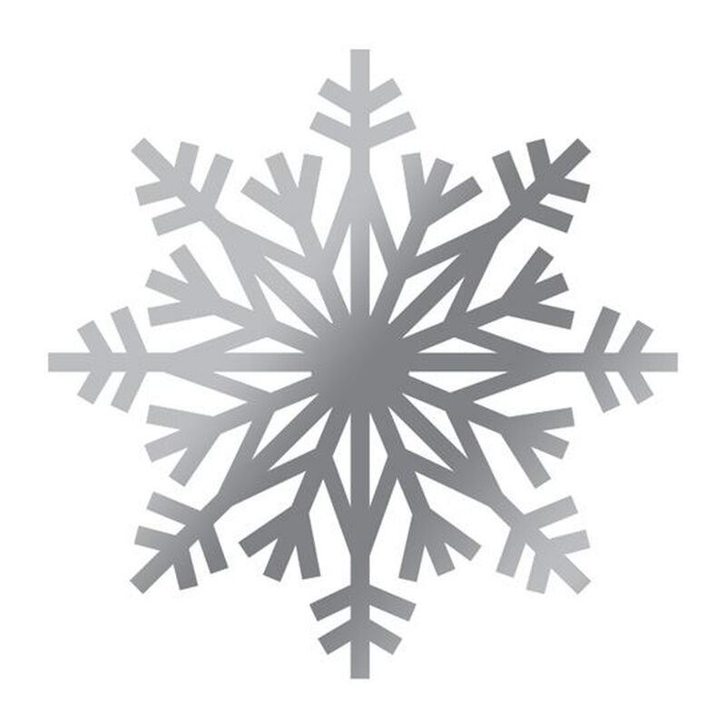 Metallic Silver Snow Flake Temporary Tattoo image number null