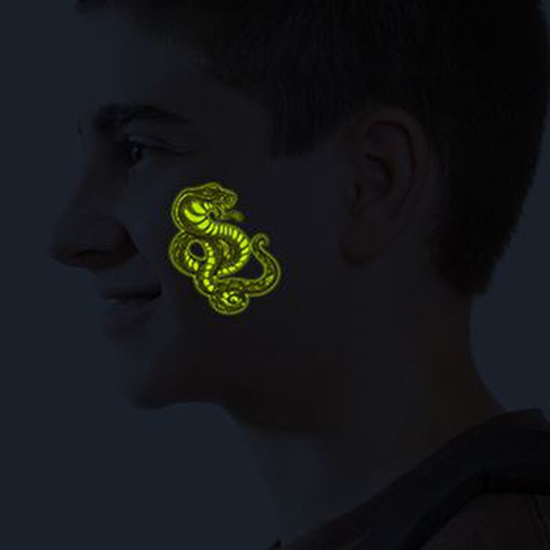 Glow in the Dark Cobra and Scorpion Temporary Tattoos image number null