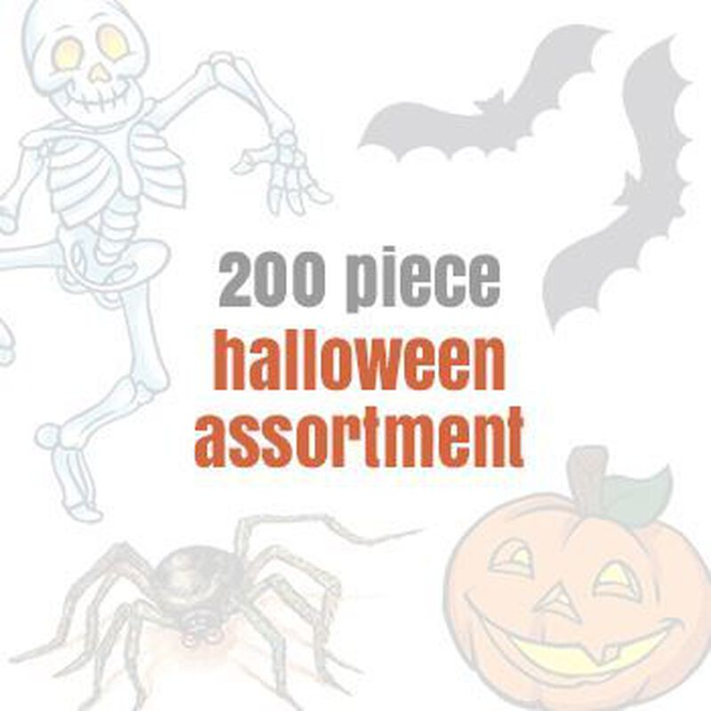 Assorted Halloween Temporary Tattoos (200 tattoos) image number null