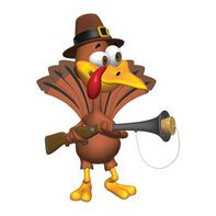 Turkey Hunter Thanksgiving Temporary Tattoo