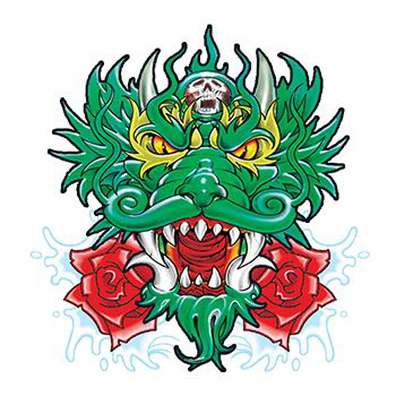 Green Chinese Dragon Temporary Tattoo image number null