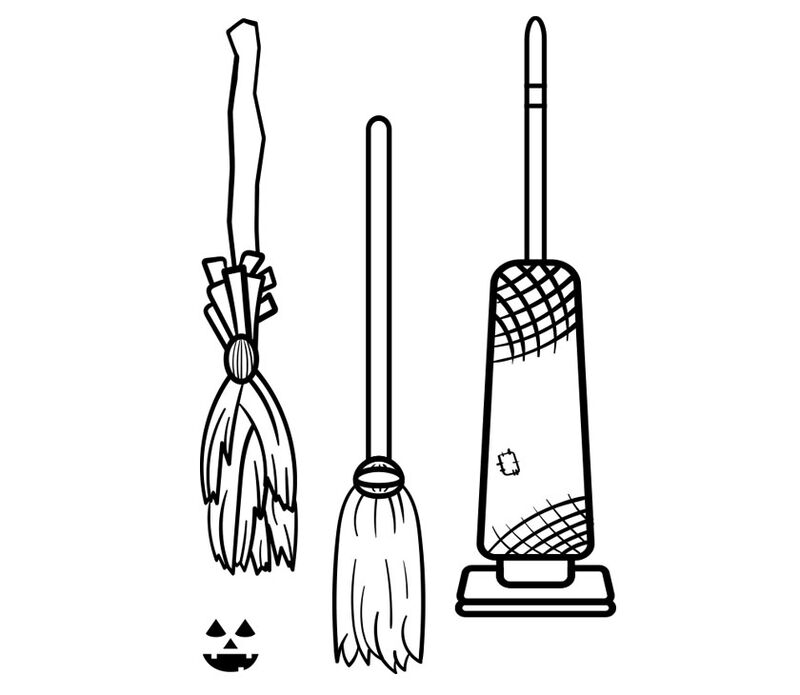 Witch Transportation Temporary Tattoo image number null
