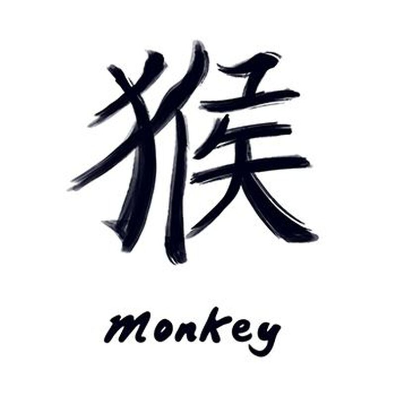 Chinese Zodiac: Monkey Temporary Tattoo image number null