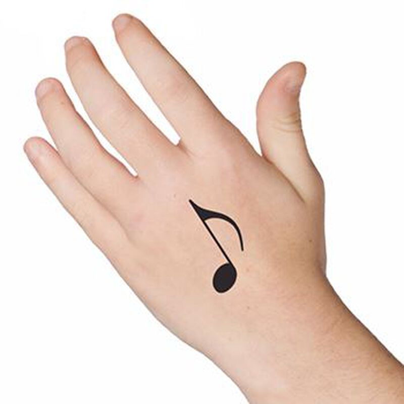 Music Note Temporary Tattoo image number null