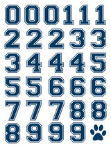 Navy Sports Numbering Temporary Tattoo