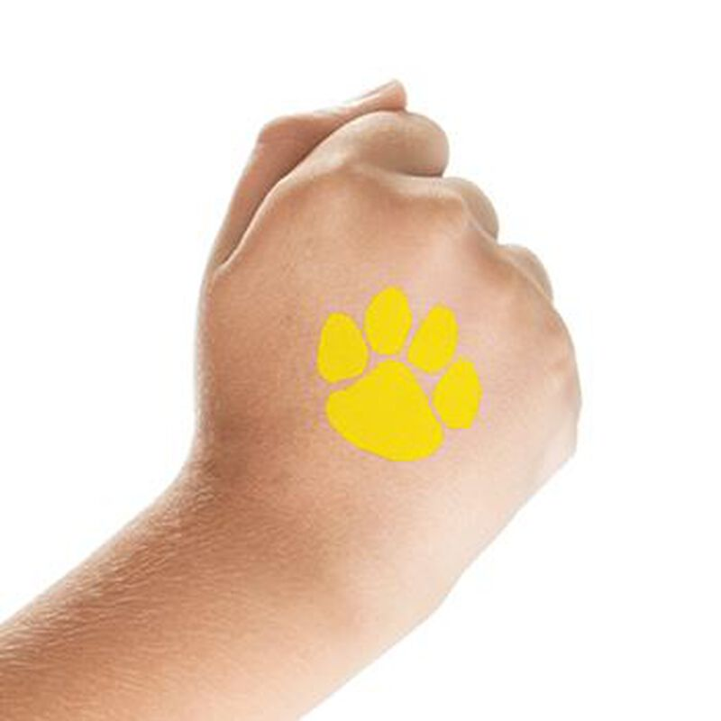 Yellow Paw Print Temporary Tattoo image number null